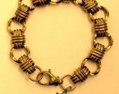 Lucky Ladybug Brass Book Chain Bracelet