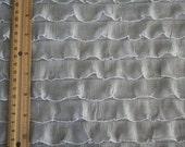 Silver Grey Ruffle Fabric Yardage