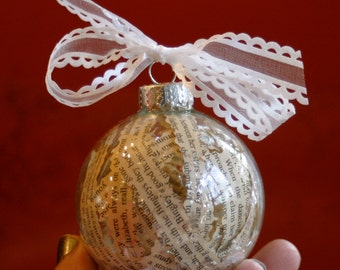 Literary holiday ornament  Etsy