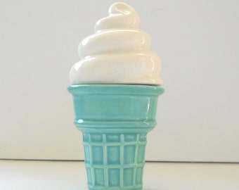 Ice Cream Cone Trinket Box Aqua Mint Ring Box Gift For Her Teen Gift