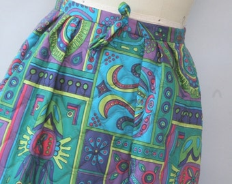 vintage psychedelic maxi skirt new with tags