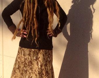 Rasta Camouflage Wrap Skirt Ruffle Sparkles