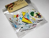 Mexican Loteria Paper Gift Tags Escort Cards Welcome Bag Tags