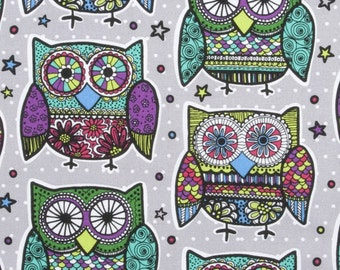Colored Owls Close Fit  Multi Medical Surgical Scrub Hat Vet Nurse Chemo CRNA
