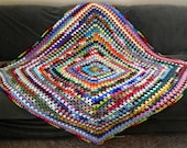 The Amazing COLORFUL AFGHAN/throw/blanket/lapghan