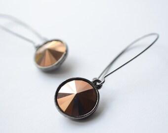 The Chrissy- Rose Gold Swarovski Earrings