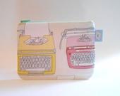 Typewriter - Zipper Pouch - Coin Purse Bag