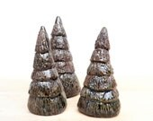 Little Pine Forest Fir Tree Sculptures, Shelf Sitters for Your Cabin Decor