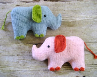 Amigurumi Knit Elephant Pattern Digital Download