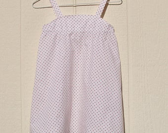 White with Red Dots Sun Dress Size 2T