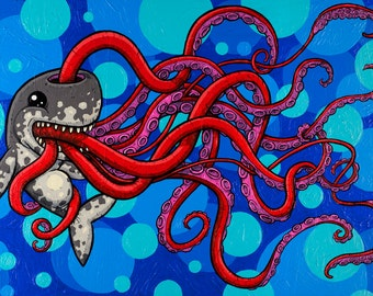 """The Enigma of a Full Belly 8x12"""" Print"""
