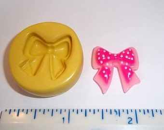Bow Flexible Mold For Resin Polymer Clay - Chocolate - Food Safe Silicone  M420