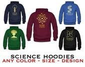 Science Sweatshirt,  Rock Star Scientist Sweater, Geeky STEM Hoodie Shirt, Hooded Pullover Shirt S M L Xl Xxl