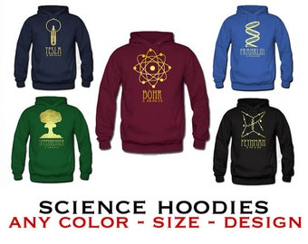 Science Sweatshirt,  Rock Star Scientist Sweater, Geeky STEM Hoodie Shirt, Hooded Pullover Sweat Shirt, Science Geek Gift, Winter Clothing