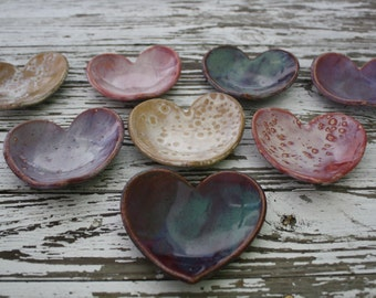 Bridesmaid Gifts Wedding Favors Corporate Gifts Bridal Shower Favors Heart Shaped Bowl Soap Dish or Jewelry Holder - Set of 5