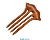 Baerreis Hair Fork Wee Shell Style Fine Hair Small Bun 3.5 Inch Functional Length - choose wood species