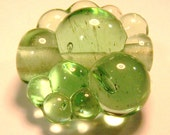 Appletini Bubbles - Bubble Bead - Handmade Lampwork Glass Beads