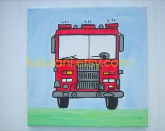 Pottery Barn Kids Jake Vintage Firetruck Fire Truck