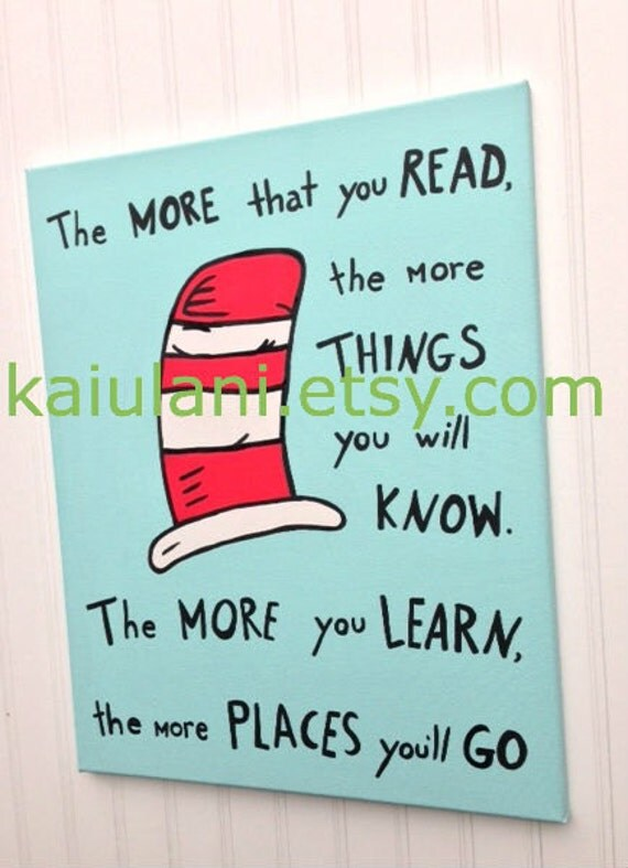 dr seuss quote cat in the hat kids wall art painting 16 x