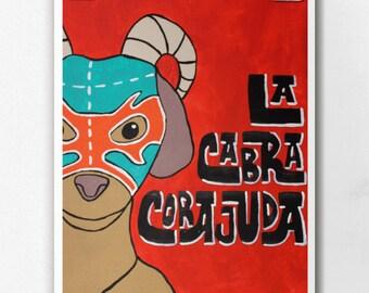 Luchamal La Cabra Corajuda Wall Art Print