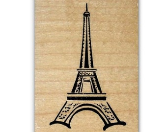 Eiffel Tower mounted rubber stamp, Paris, France, French #22
