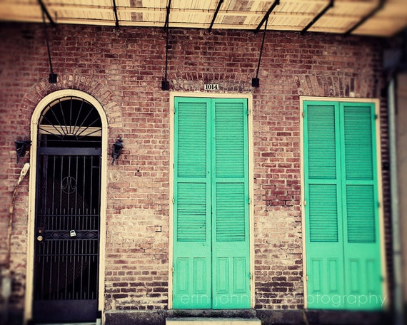 Items Similar To New Orleans Photography French Quarter Architecture Door Photograph Aqua Green