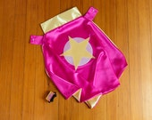 Girl Superhero Cape by Little Hero Capes - Hot Pink and Yellow - Star Design