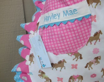 Cowgirl Aprons - Womens Half Horse Aprons - A Girl and Her Horse -Personlized Handmade Aprons - Western Apron - Annies Attic Aprons