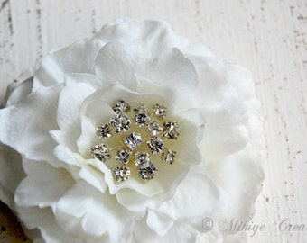 Wedding Hair Piece, Bridal Hair Clip, Wedding Accessories, Ivory Floral Headpiece, Bridal Hair Flower