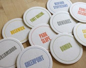 BROOKLYN Letterpress Neighborhood Coasters (Pack of 10)