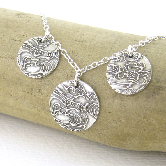 serenity necklace three circle necklace sterling by