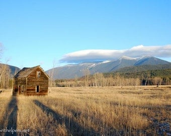 Old School House, Grave Creek Rd., Montana Barn, Once Upon a Time, Lond Shadows, Art photograph