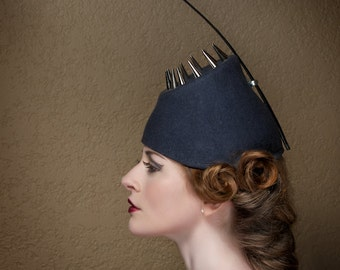 Haute Couture Hat Spikes Headpiece Anglerfish Burning Man