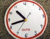 Custom Felt Birth Clock
