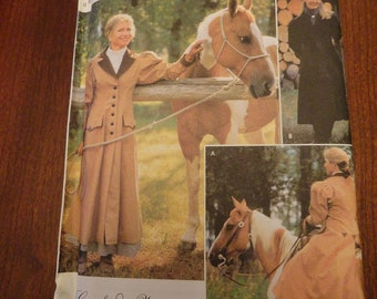 Misses Carriage and Buggy Coat Sewing Pattern - Simplicity 9453 Cattle Kate size 6 8 10 12 UNCUT