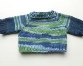 Hand knit Teddy Bear or doll Sweater