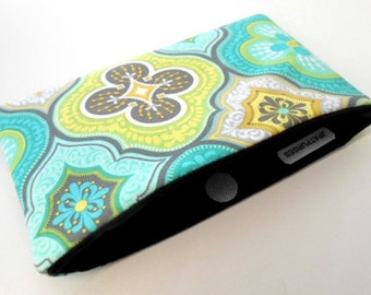 Catch All Clutch ECO Friendly Padded Pouch Green Tiles