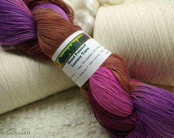 Hand painted Mousocot yarn - 4 oz. Chocolate Covered Cherries