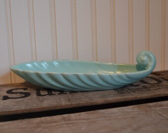 Vintage Turquoise Franciscan Coronado Swirl Relish Dish - Matte - Bowl - Royal Hill Vintage