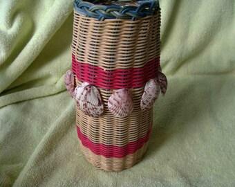 Sea Shell Basket – Hand Woven with Sanibel Island Shells