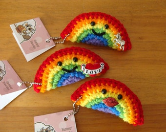 Rainbow Keychain or Ornament - Your choice of Style
