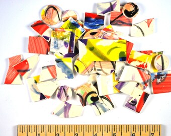 SWIRLY TWIRL Tiles, random scribbles Mosaic Tiles