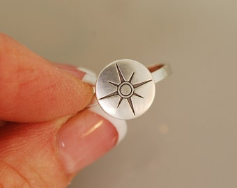 Rose Compass Ring