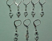 Removable Stitch Markers - Multi-Purpose Lettered:  Front, Back, Center, Left, Right, WS, RS, Plus Swarovski Crystal Marker - Item No. 906