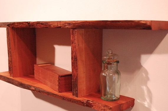 No. 22 - Wormy Live Edge Cherry Shelf