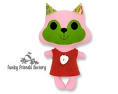 Kawaii Squirrel Easy Animal Doll Sewing Pattern PDF INSTANT DOWNLOAD