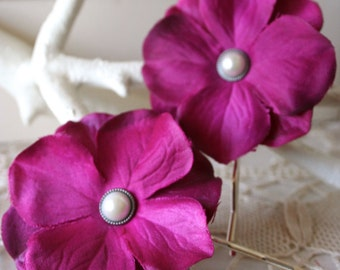 Sweet Moment Blossom Hairpins - Set of 2