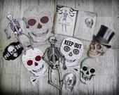 Halloween skeleton instant download