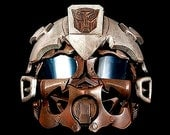 Steampunk Rusted BumbleBee Helmet 2 Paper  Giclee Print Transformers Autobots