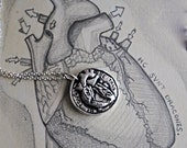 Be Tough. Be True. Anatomical Human Heart Necklace